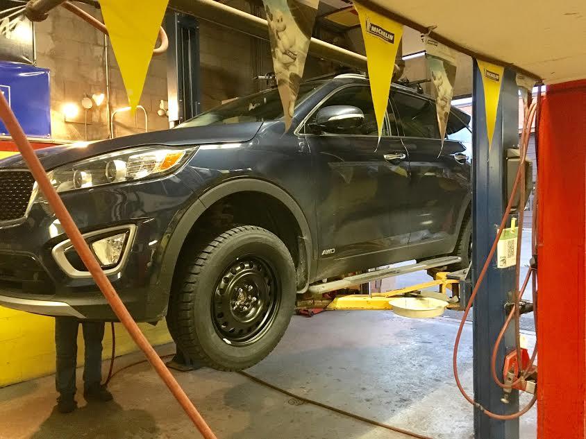 Car in shop